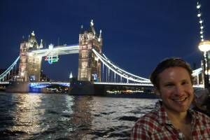 Andrew next to Tower Bridge