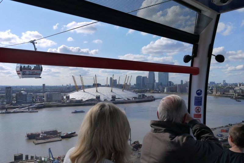 View of the River Thames from Cable Car
