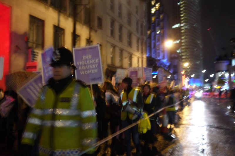 Marching at Reclaim the Night