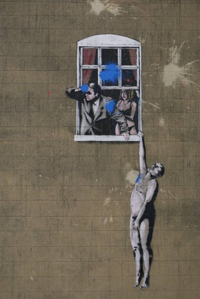Banksy Street Art in Bristol