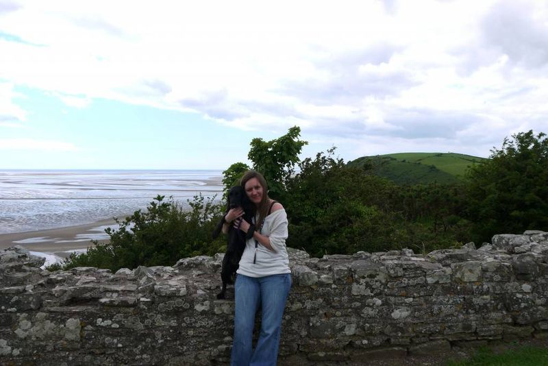 Amy & Brooke at Llansteffan Castle, Wales