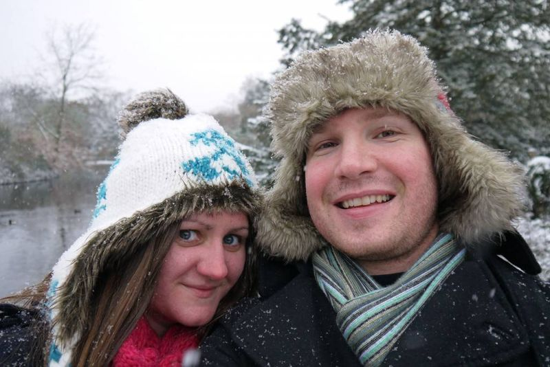 Amy &amp; Andrew in the Snow