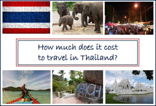 Thailand Travel Costs Collage