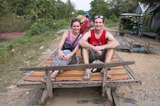 A Ride on the Bamboo Train in Battamabang