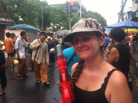 Amy Celebrating Songkran 2014 in Chiang Mai
