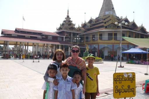 Me with Kids in Burma