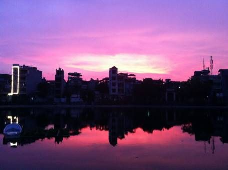 Sunset in Hanoi, Vietnam