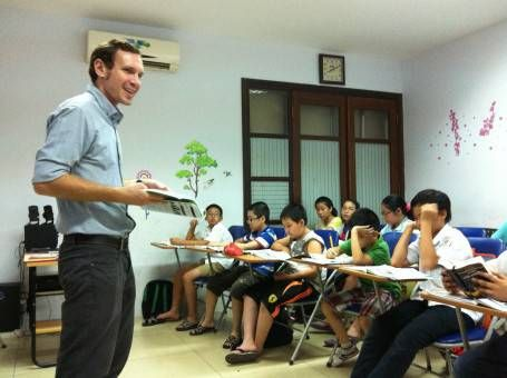 Andrew teaching in Vietnam