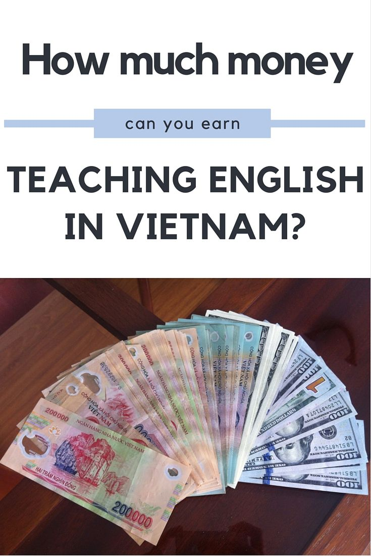 How much money can you earn teaching English in Vietnam?