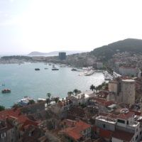 View of Split from the top of the Bell Tower