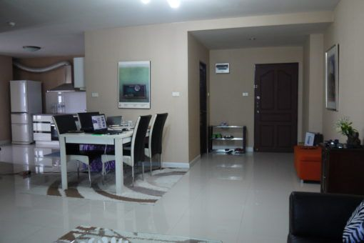 Entrance and dining area in our Chiang Mai apartment