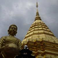 Buddha and Pagoda at Doi Suthep Temple, Chiang Mai