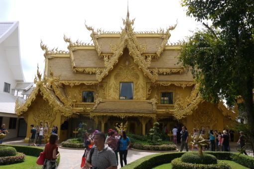 Golden toilets at the White Temple in Chiang Rai, Thailand