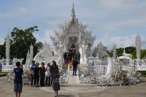 Entrance to the White Temple in Thailand