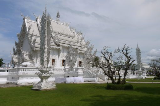 The White Temple from behind in Thailand