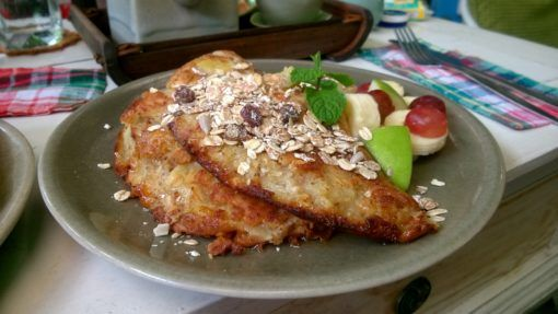 Banana Pancakes from Angel's Secrets cafe in Chiang Mai, Thailand
