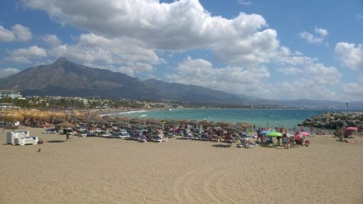 Beach in Marbella, Spain