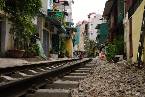 The train line in Hanoi