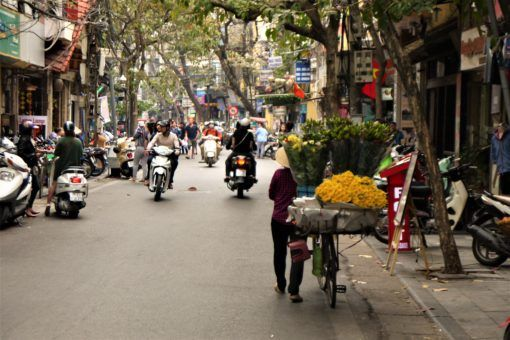 Typical Hanoi Old Quarter street