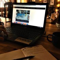Travel Planning in the Hill Station Restaurant in Sapa, Vietnam