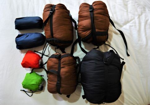 Sleeping bags and down jackets for the Everest Base Camp Trek