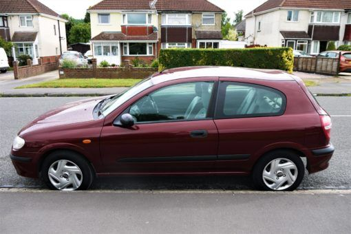 Our new wheels, Meera, the Nissan Almera