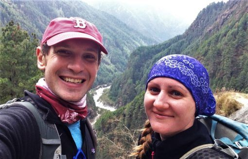 Us at the beginning of the Everest Base Camp Trek