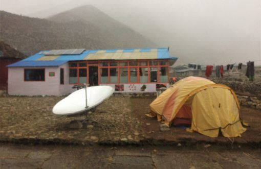 Inclement weather coming into Dingboche