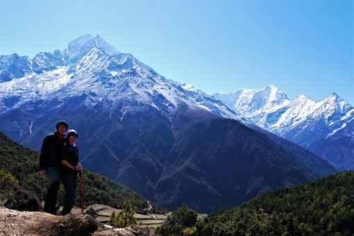 Us on an accilimatisation hike from Namche Bazaar