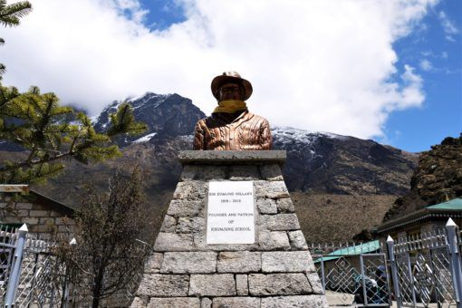 Bust of Sir Edmund Hillary at Khumjung School in Nepal
