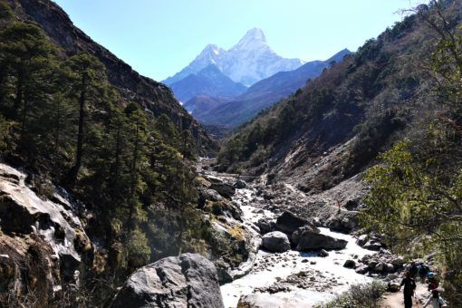 View of Ama Dablam on the Everest Base Camp Trek