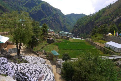 Monjo, Nepal, looking green and lush