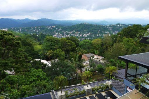 View of the mountains from Theva Residency, Kandy