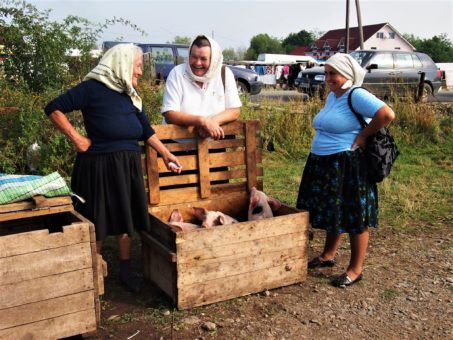 local villagers in Breb, Romania
