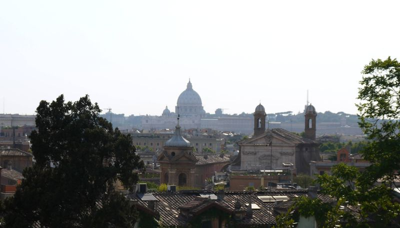 View from near the Spanish Steps in Rome, Italy