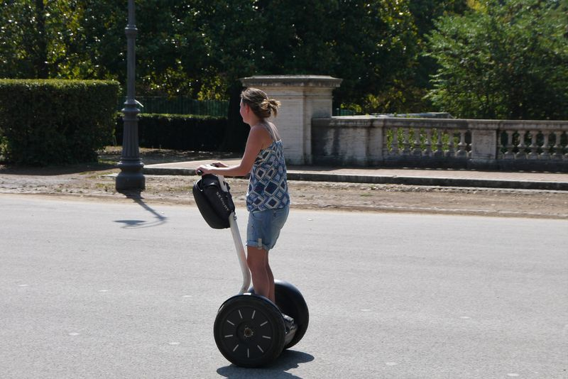 Amy on a segway in Rome, Italy