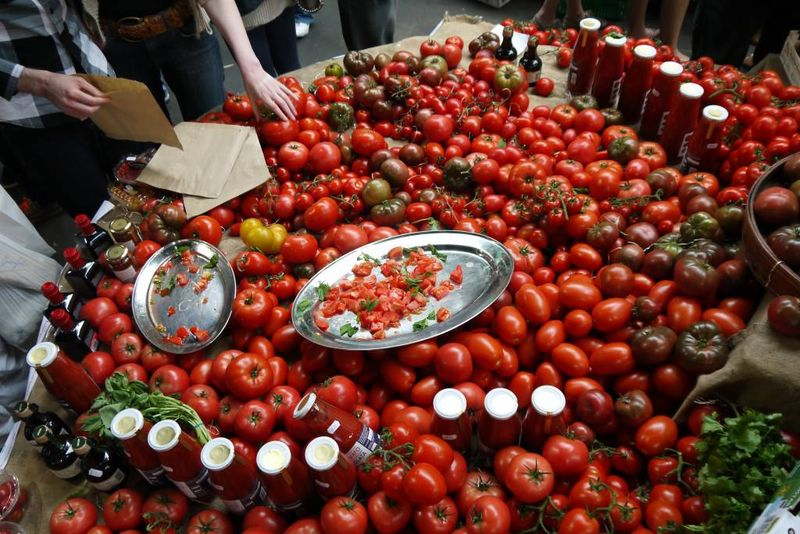 Borough market tomato stall