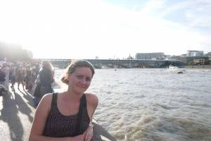 Amy by the Thames, London Southbank