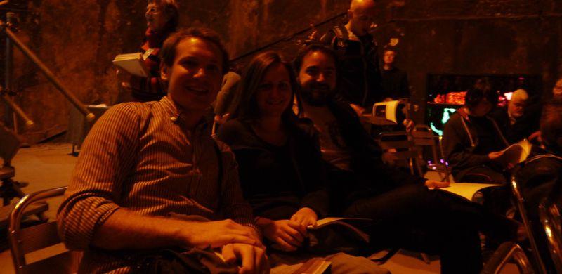 Amy, Andrew & Bonner inside the Thames tunnel