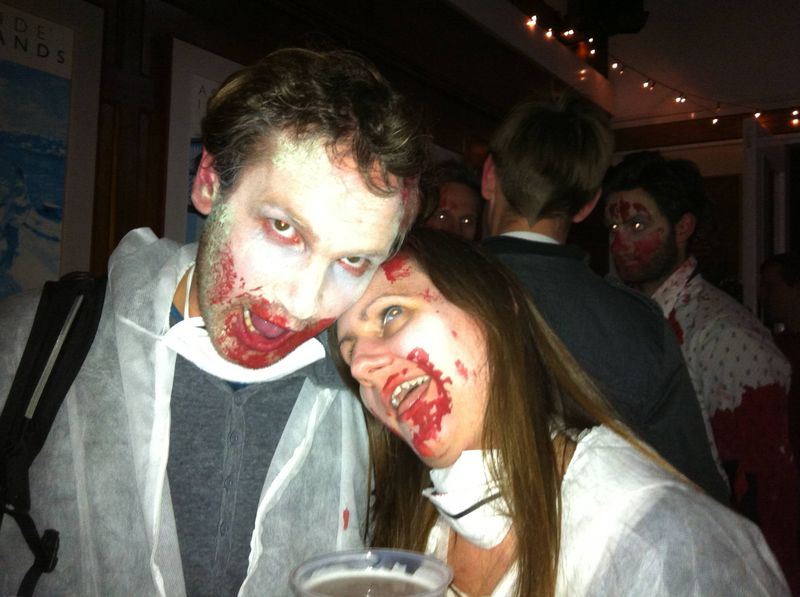 At the zombie disco