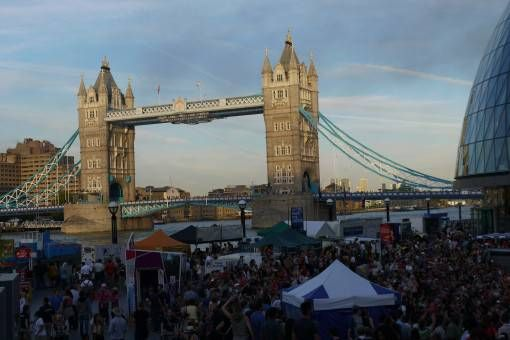 The Thames Festival with Tower Bridge