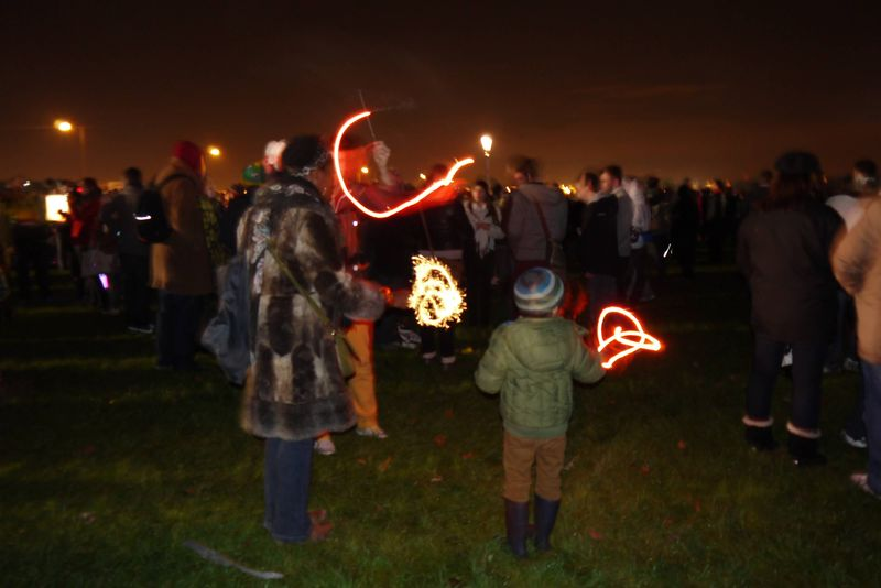 Sparklers at Blackheath Fireworks Display, Greenwich
