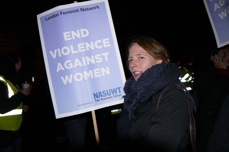 Jo on the Reclaim the Night March