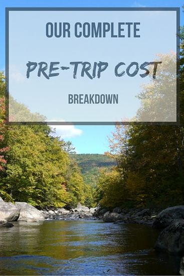 Our complete pre-trip cost breakdown