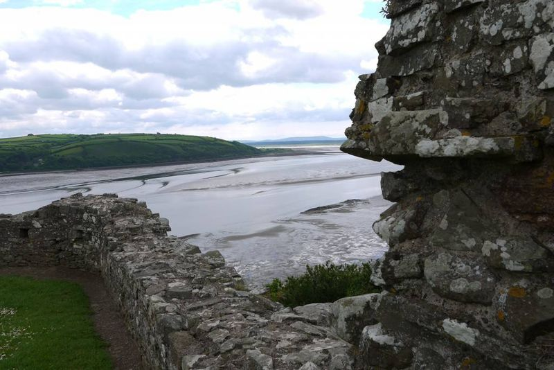 Llansteffan Beach from the Castle, Wales