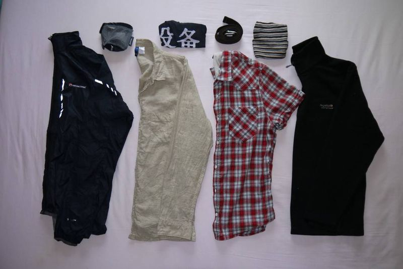 Andrew's travel clothes