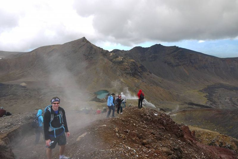Andrew on Mount Tongariro