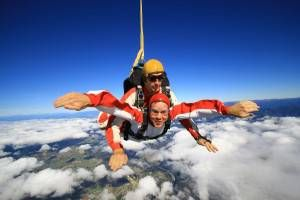 Andrew Skydiving Over Abel Tasman, New Zealand