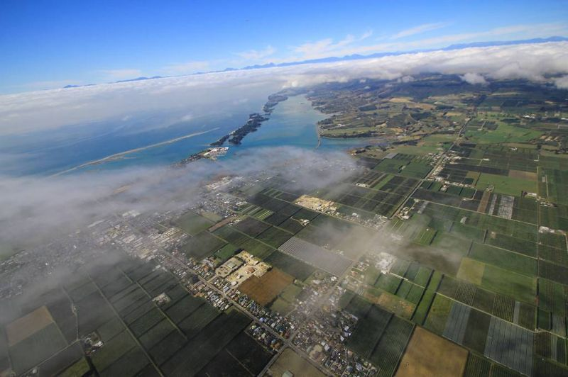 Skydiving over Abel Tasman, New Zealand