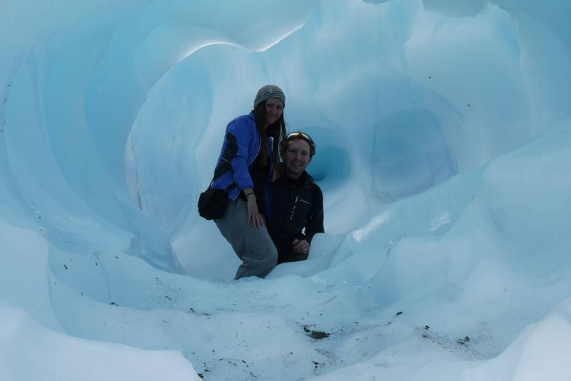 Some amazing ice caves on Fox Glacier, New Zealand